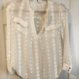 Zoa New York silk embroidered blouse
